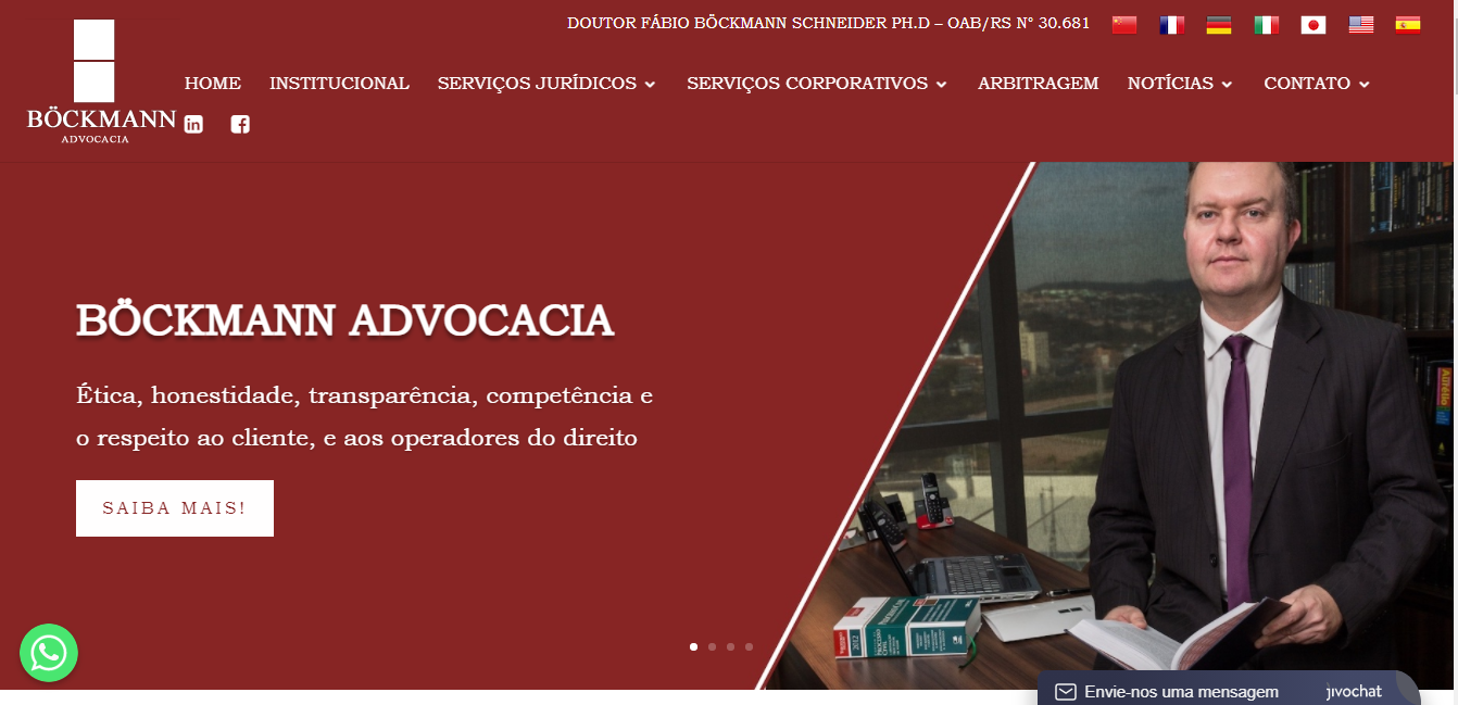 Site novo Böckmann Advocacia